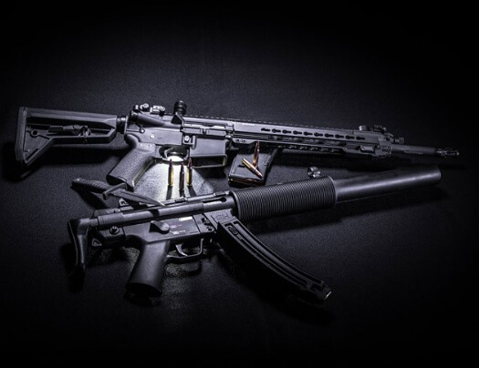 image of airsoft rifles